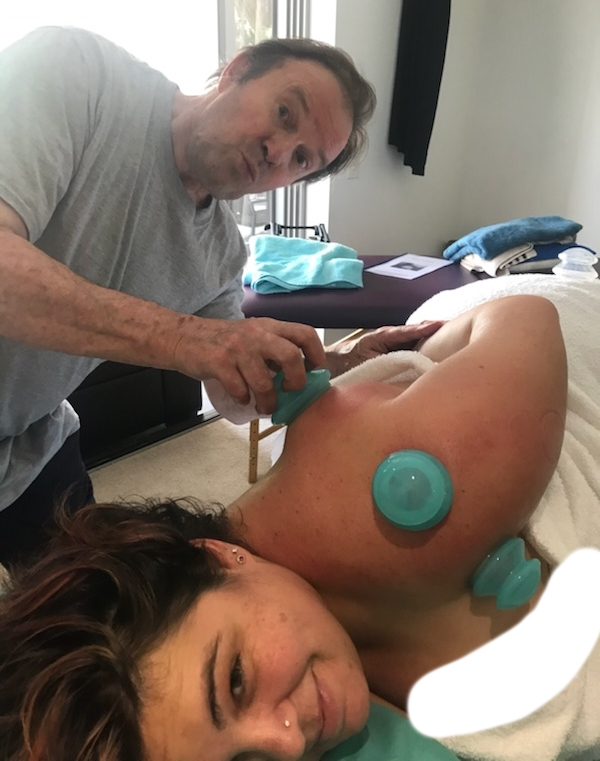 monica getting cupped